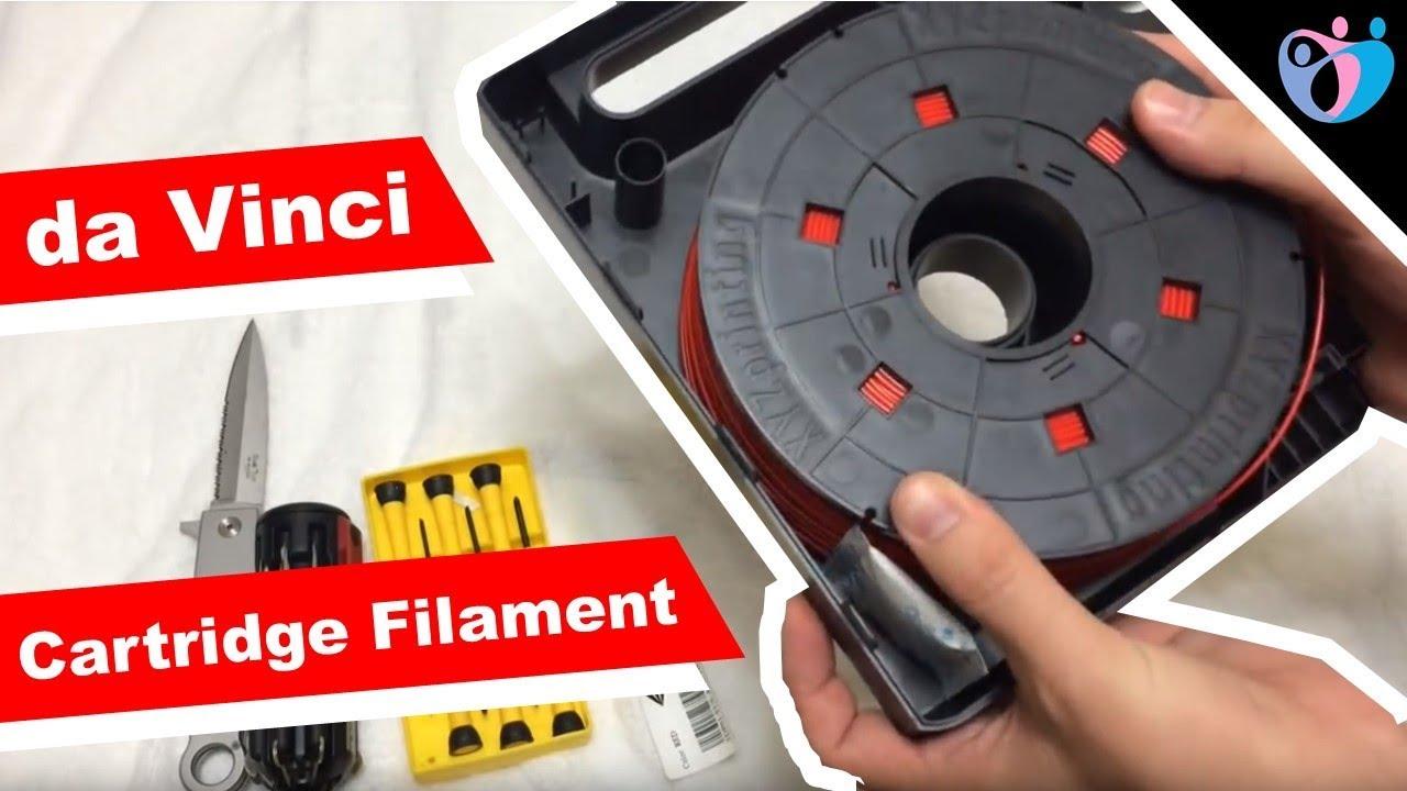 3d Printer Filament >> da Vinci 3d printer filament cartridge how to take apart - YouTube
