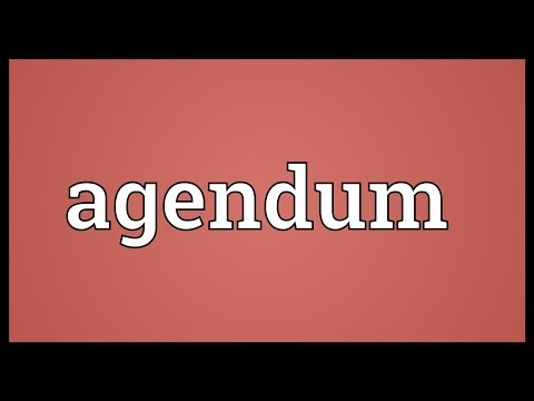 Header of agendum