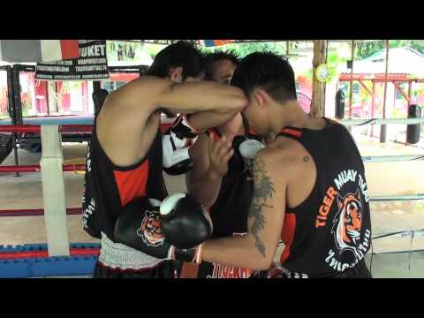 Tiger Muay Thai Techniques: Parry Jab followed by elbow strike Image 1