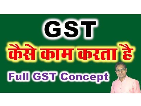 How Does GST work GST Kaise Kaam Karta Hai GST Mai Kaise Kaam Karein Full GST Concept byThe Accounts