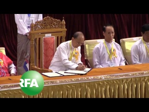 Myanmar Signs Ceasefire Agreement With Eight Rebel Groups