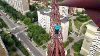 Mustang Wanted on 150 meter crane. Part 1