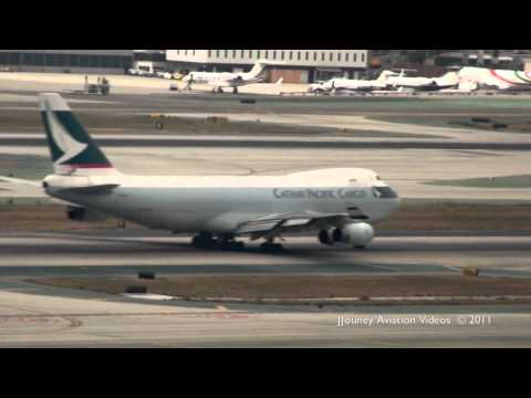 Cathay Pacific & Polar Air Cargo 747F Takeoffs @ LAX