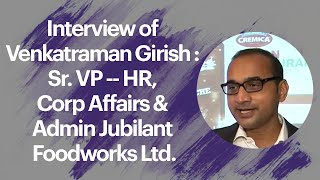 Interview of Venkatraman Girish   Sr  VP