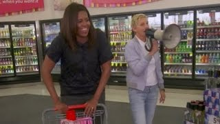 Michelle Obama and Ellen DeGeneres shop at CVS