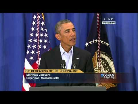 President Obama statement on James Foley (C-SPAN)
