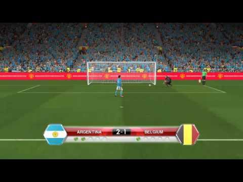 ARGENTINA vs BELGIUM - PENALTY SHOOTOUT PES2014 PC GAMEPLAY