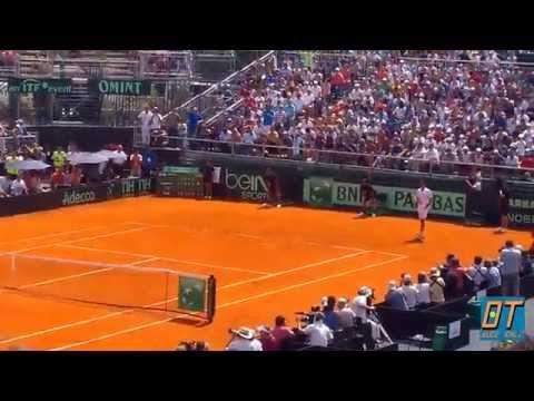 Match point de Federico Delbonis vs Thomaz Bellucci - Copa Davis 2015