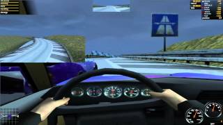 Need For Speed Porsche 2000/Unleashed - Autobahn - 911 Turbo 3.3 Coupe - 16:9 1080p performance test