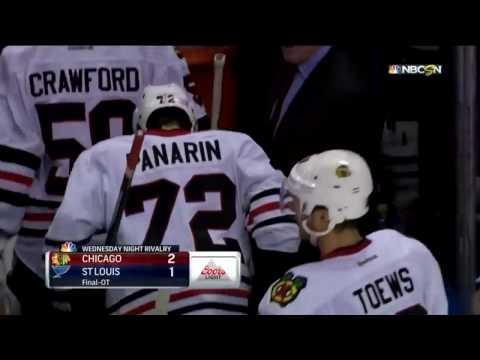 Победный гол Артемия Панарина Chicago Blackhawks-St Louis Blues 9.11.2016 НХЛ