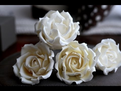 How To Make A Sugar Rose A Mcgreevy Cakes Tutorial Youtube