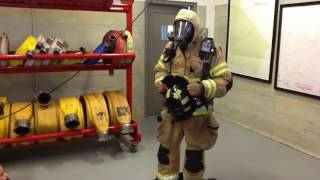 Learning about firefighter gear!
