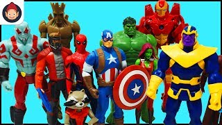 Marvel Avengers Guardians of the Galaxy Superheroes Toys - Captain America Iron Man Hulk Spider Man