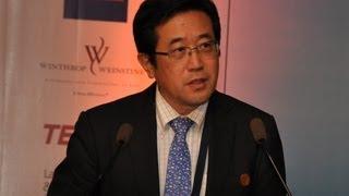 Mr Takushi Sakurai at GIPC 2013, Bangalore, INDIA