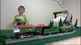 JOHN DEERE TRACTOR TRAIN SET - RC TOY TRAINS FOR KIDS