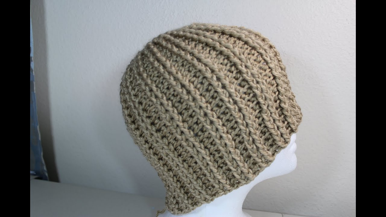 Crochet Patterns Youtube Hats : Crochet rib hat - YouTube