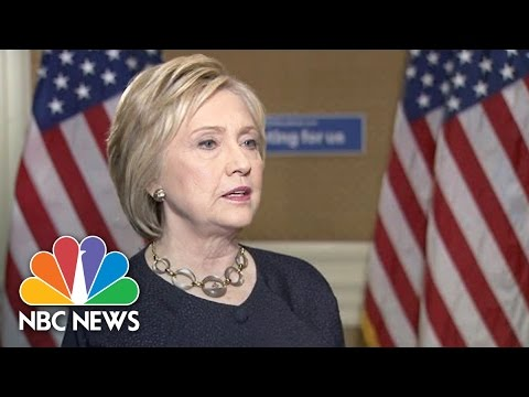 Hillary Clinton On Email Use: 'If I Could Go Back, I'd Do It Differently' | NBC News