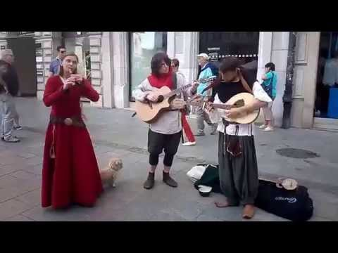Ancient Music on Krakow Streets (Poland)