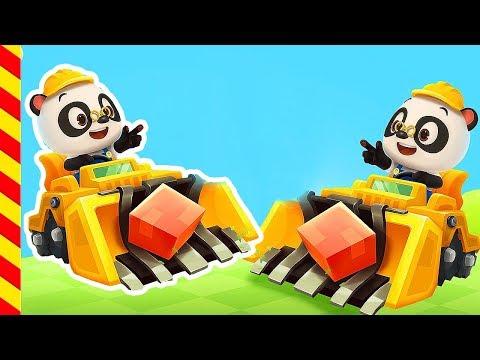 Строительная техника мультик Панда Трактор мультик. Трактор для детей. Кран для детей. Кран мультик.
