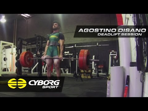 Cyborg Sport Ambassador - Agostino Disano Deadlift Session