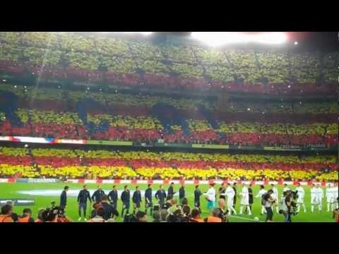 Barca entering the stadium!
