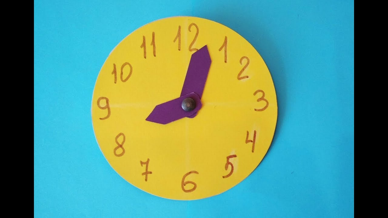 Как сделать часы картон