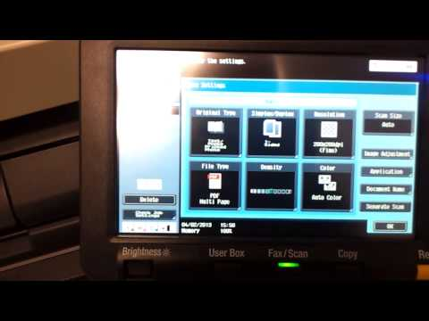 Konica Minolta Bizhub C280 - How to Scan and Send to Email as PDF