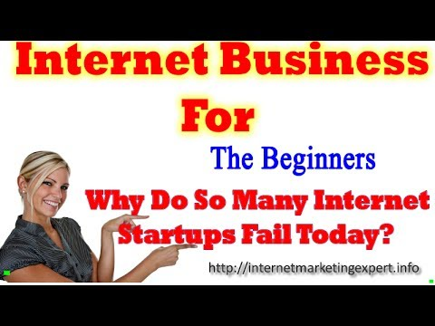 Internet Business For The Beginners - Why Do So Many Internet Startups Fail Today?
