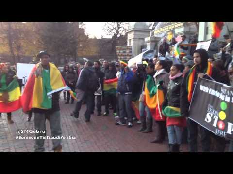 Boston Protest Against The Abuse Of Ethiopian Migrant Domestic Workers In Saudi Arabia video