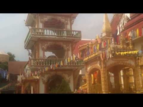 Buddhist temple by the Mekong river
