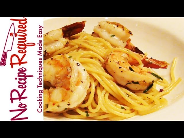 Spaghetti and Shrimp - Pasta Recipes by NoRecipeRequired