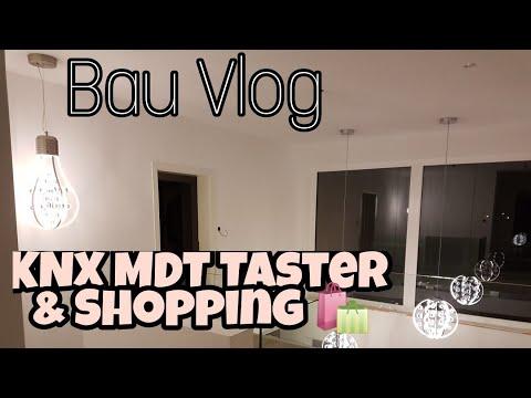 Hausbau Blog 33  erste Erfahrung KNX MDT Glastaster  LED Spots  Shopping  IKEA Garderobe