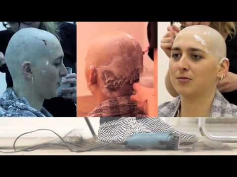 Pretty girl go bald(beautiful girl headshave#enjoy45min)