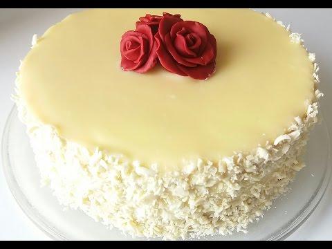 """Торт """"АИША""""/""""Gâteau AISHA""""белоснежный торт с белым шоколадом"""