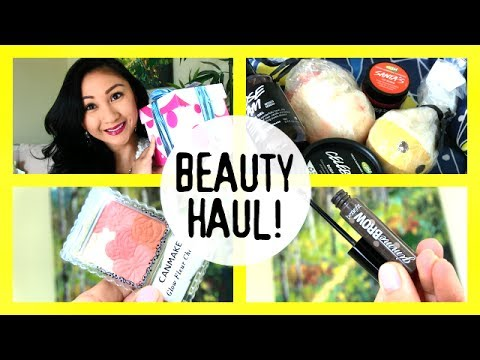 Beauty Haul & Review+Demos! Canmake Blush, Benefit Gimme Brow, Lush, Lip Crayon!