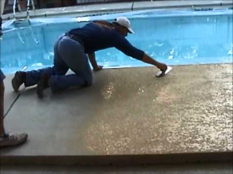 Decorative Concrete Pool Deck Coatings by Sider-Crete. Inc.