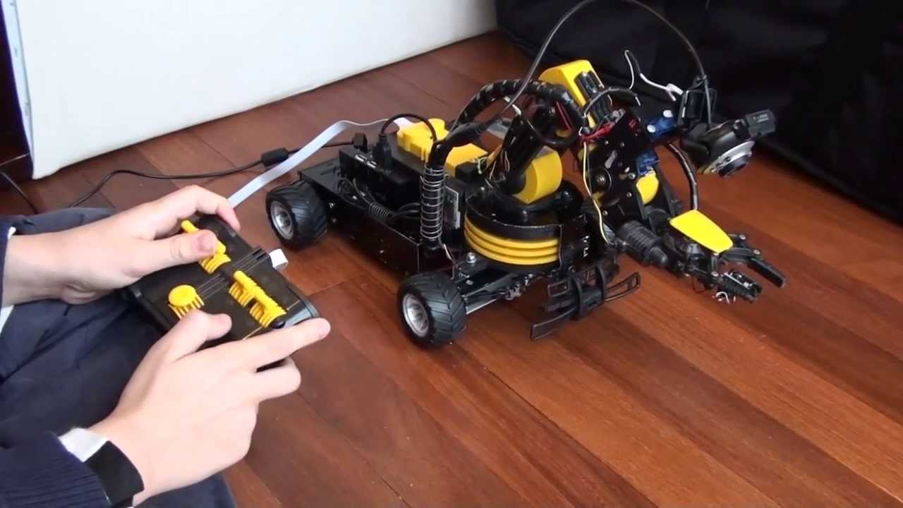 Owi robotic arm edge turned into rover robot