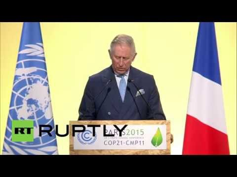 France: Fabius and Prince Charles plead for world leaders to tackle climate change