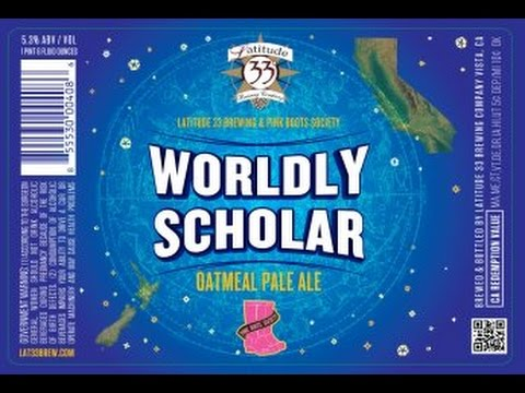 Latitude 33 Worldly Scholar (w  Pink Books Society) Video Beer Review | San Diego Beer Vlog Ep 556 video