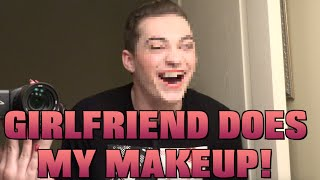 MY GIRLFRIEND DOES MY MAKEUP CHALLENGE