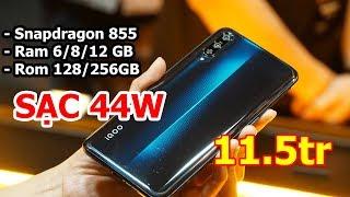 Trên tay Vivo iQ OO: Snap 855, Ram 12GB, Sạc nhanh 44W, vân tay trong màn hình Giá 11 triệu