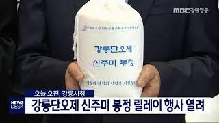 강릉단오제 신주미 봉정 릴레이 행사 열려