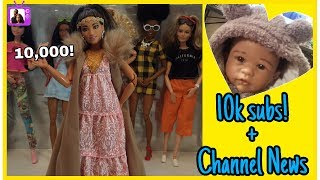 NEW BARBIE DOLL and 10,000 subscriber ANNOUNCEMENT