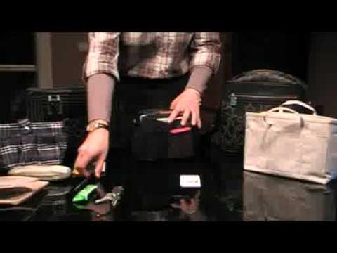 Presenta organizador de bolsos negro - Organizador de carteras ...