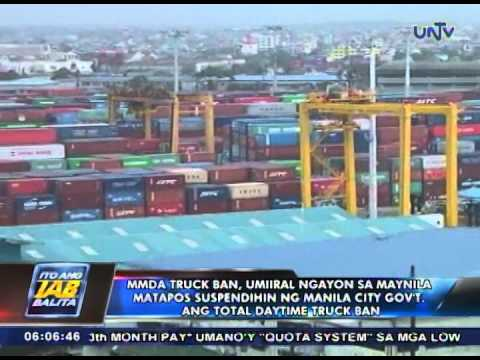 MMDA truck ban, umiiral ngayon sa Maynila matapos masuspinde ang total daytime truck ban