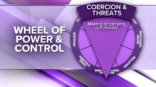 Wheel of Power and Control: Economic Abuse, Coercion & Intimidation