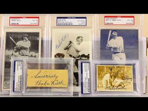 Babe Ruth Baseball Cards Babe Ruth Signed Autograph Colllection With Lou Gehrig And Foxx
