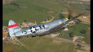 Dottie Mae P-47 Air-to-Air on First Public Flight - 26 Aug 2017