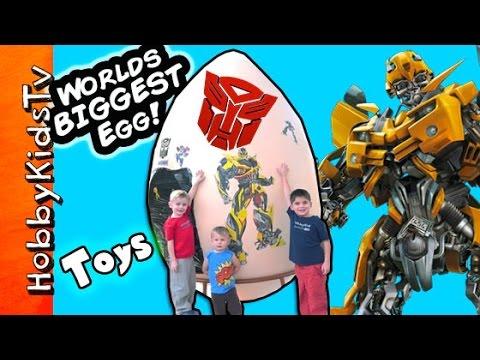 Worlds First Biggest Transformer Surprise Egg Blind Box Funko Pop by HobbyKidsTV