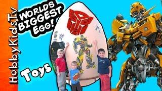 GIANT TRANSFORMER Surprise Egg with HobbyKids